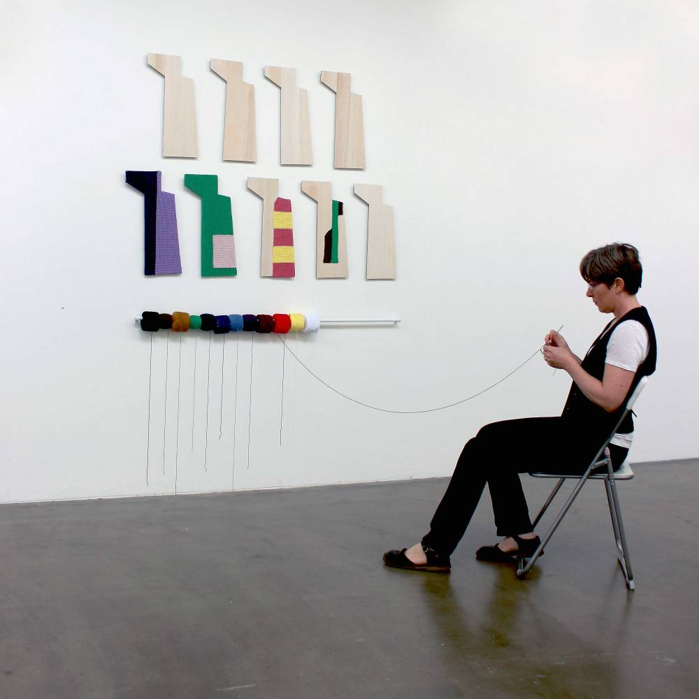 Dierdre Pearce, vigil, 2015. Installation and performance during exhibition small rituals, ANCA gallery. Photograph Dierdre Pearce.